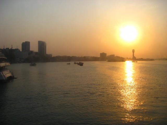 140828 sunrise in Dar es Salaam